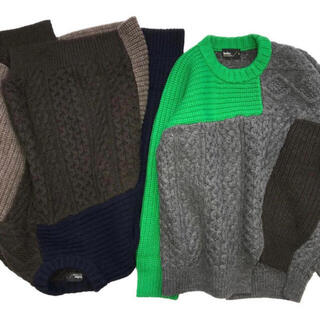 kolor - kolor 19aw パルコ限定 ドッキングセーター
