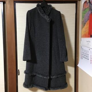 ペイトンプレイス ウールコート 襟にファー付き❤️シンプル グレー