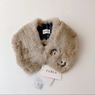 フルラ(Furla)の新品⭐️ FURLA フルラ ティペットマフラー レッキス リアルファー モカ(マフラー/ショール)