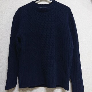 ジェイプレス(J.PRESS)のJ.PRESS シャギードッグセーター ネイビー 紺色 メンズ L(ニット/セーター)