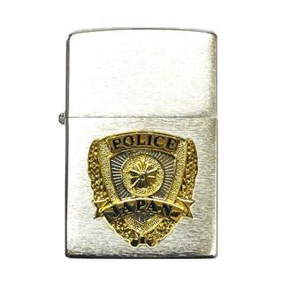 警察ZIPPOジッポ交換用外側ケース撮影用小道具 POLICEエンブレムA064(小道具)