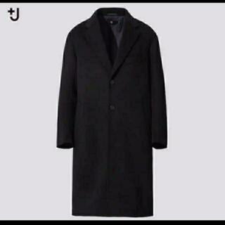 ユニクロ(UNIQLO)のカシミヤブレンドオーバーサイズチェスターコート。ブラック。サイズM。(チェスターコート)