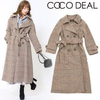 ココディール(COCO DEAL)の♡  COCO DEAL ココディール先染めチェックダブルテーラードコート ♡(ロングコート)
