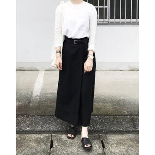 ヤエカ(YAECA)の【30日までの出品】wirrow  linen canvas wrapskirt(ロングスカート)