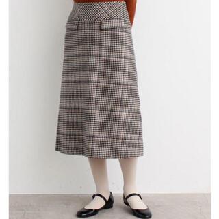 プープレ(peu pres)のpeu pres チェック柄スカート(ロングスカート)