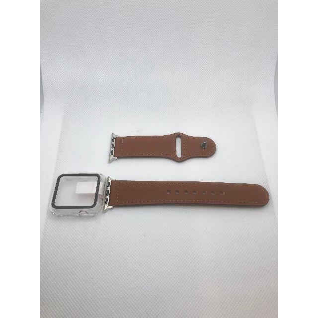 アップルウォッチ 高級 本革 レザーベルト apple  watch バンド メンズの時計(レザーベルト)の商品写真
