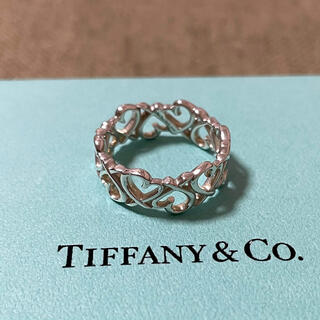 Tiffany & Co. - ティファニー ラビングハート オープン リング 指輪 14号