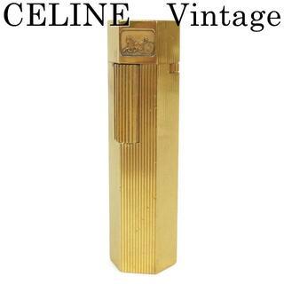 セリーヌ(celine)のセリーヌ CELINE ヴィンテージ 乗馬 ガス ライター 喫煙具 ゴールド(その他)