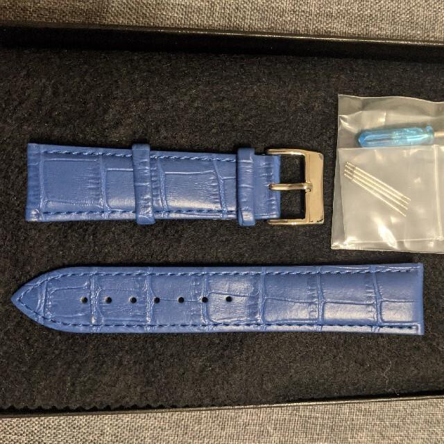レザーベルト ブルー 22mm メンズの時計(レザーベルト)の商品写真