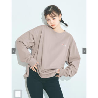 GRL - 【新品】GRL FILA ビッグ ロンT