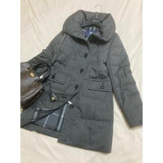 バーバリー(BURBERRY)の美品 バーバリー ロンドン ダウン コート グレー 大きいサイズ 42(ダウンコート)