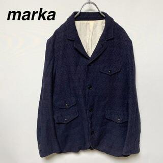 マーカ(marka)のmarka マーカ ジャケット 綿 麻 カシミヤ アンゴラ混(テーラードジャケット)