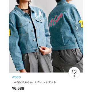 ウィゴー(WEGO)のWEGO/ LA Gear デニムジャケット(Gジャン/デニムジャケット)