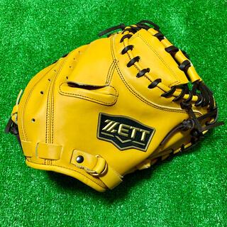 ゼット(ZETT)の新品 高校野球対応 ZETT 硬式用 キャッチャーミット ナチュラル グローブ(グローブ)