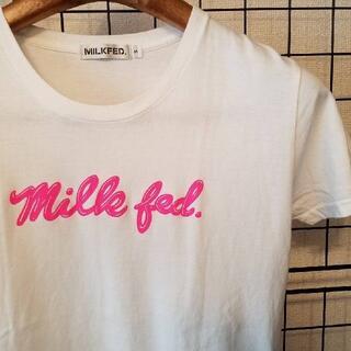 MILKFED. - MILKFED ミルクフェド フロントプリント入り 半袖カットソー/Tシャツ