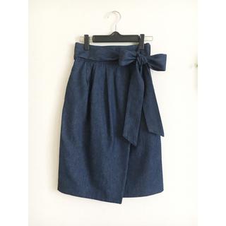 トランテアンソンドゥモード(31 Sons de mode)のデニム スカート(ひざ丈スカート)