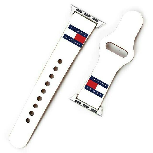 TOMMY HILFIGER(トミーヒルフィガー)のApple Watch バンド ベルト トミーヒルフィガー i6k メンズの時計(レザーベルト)の商品写真
