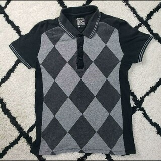 グラニフ(Design Tshirts Store graniph)のTM045 古着  graniph グラニフ  ポロシャツ  ブラック(ポロシャツ)