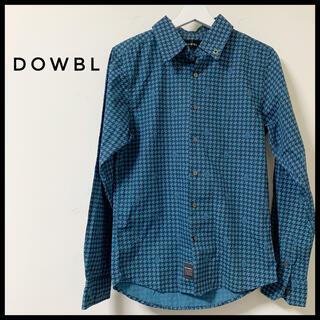 ダブル(DOWBL)のDOWBL ダブル 千鳥格子柄 チェック シャツ グリーン ギンガムチェック(シャツ)