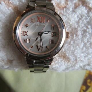 カシオ(CASIO)の【美品】カシオ腕時計 電波ソーラー時計 :レディース(腕時計)