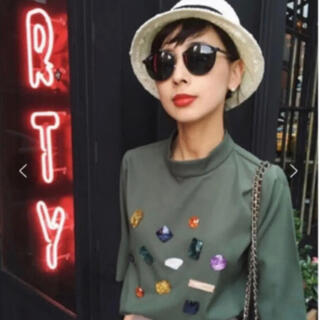 Ameri VINTAGE - 【大人気&美品】MANY BIJOU HI NECK TOP
