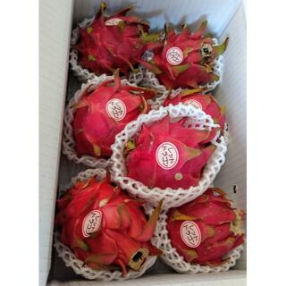 残り僅か!甘い!沖縄産 無農薬ドラゴンフルーツ レッド 赤果肉 1kg(フルーツ)