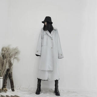 Jieda - [新品/入荷待ち] denim layered coat   #No.10