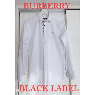 バーバリーブラックレーベル(BURBERRY BLACK LABEL)の【バーバリーブラックレーベル】白シャツ/ワイシャツ/Mサイズ(シャツ)