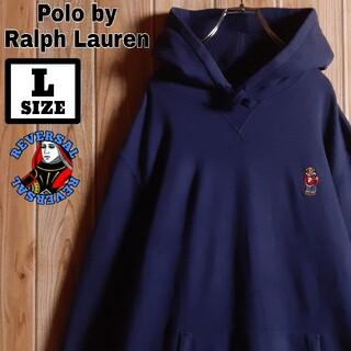POLO RALPH LAUREN - RalphLauren ラルフローレン 刺繍 星条旗 ポロベア パーカー L
