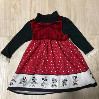 Disney - MAJOLICA ミニーちゃんワンピース 110サイズ