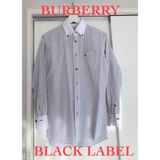 バーバリーブラックレーベル(BURBERRY BLACK LABEL)の【バーバリーブラックレーベル】ストライプ シャツ/サイズ39/Lサイズ(シャツ)