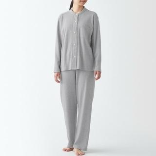 MUJI (無印良品) - 脇に縫い目のない カットソースタンドカラーパジャマ