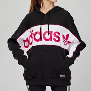 adidas - アディダス ♡パーカー♡ブラック♡ピンク♡OT
