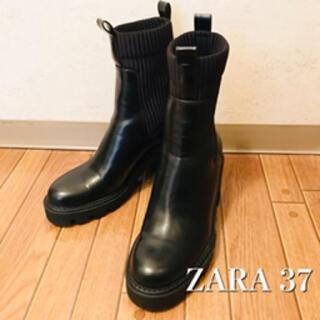 ZARA - ZARA ザラ ソックスブーツ 37 24cm トラックソール