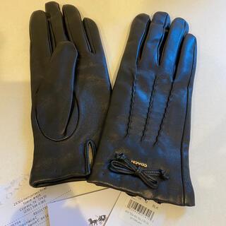 コーチ(COACH)のCOACH コーチ 新品 ブラック レザー 手袋♡カワイイ(手袋)
