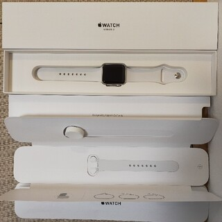 Apple Watch - Apple Watch Series3 GPSモデル 38mm ホワイトスポーツ