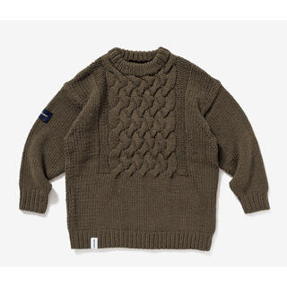 DESCENDANT FADED KABLE KNIT フィッシャーマンセーター