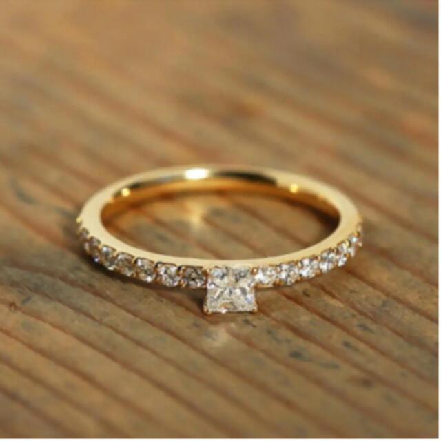agete(アガット)のAvaron K18 Princess Ring レディースのアクセサリー(リング(指輪))の商品写真