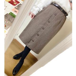Grimoire - ヴィンテージ ✽ ベルト付きツイードスカート ◆ 日本製