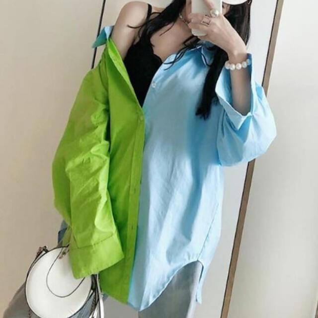 HARE(ハレ)のハレ 韓国 コントラスト シャツ メンズのトップス(シャツ)の商品写真