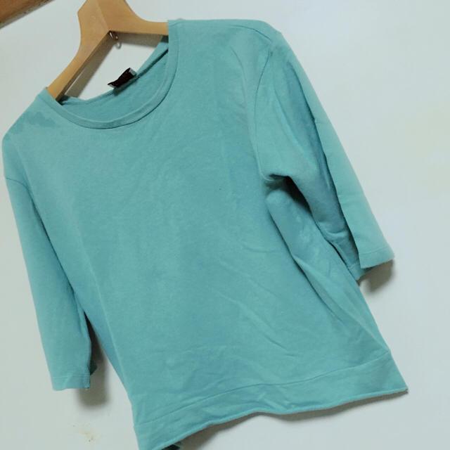 ZARA(ザラ)のZARA ミントグリーン七分袖 レディースのトップス(Tシャツ(半袖/袖なし))の商品写真