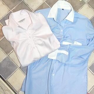 イオン(AEON)のシャツ 大きめ  11号 13号  レディース  ブラウス  2枚(シャツ/ブラウス(長袖/七分))