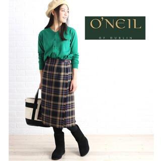 オニール(O'NEILL)のO'NEIL OF DUBLIN チェック柄キルトスカート ラップスカート(ひざ丈スカート)