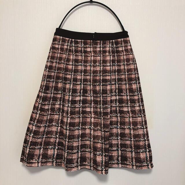 QUEENS COURT(クイーンズコート)のQUEENS COURT ツイード風ラップスカート レディースのスカート(ひざ丈スカート)の商品写真
