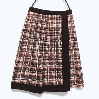 QUEENS COURT - QUEENS COURT ツイード風ラップスカート