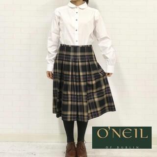 オニール(O'NEILL)のO'NEIL OF DUBLIN ソフトプリーツスカート チェック柄(ひざ丈スカート)