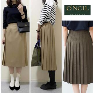 オニール(O'NEILL)のO'NEIL OF DUBLIN グリーンのラップスカート キルトスカート(ひざ丈スカート)