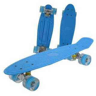 スケボー ミニクルーザー  ブルー(スケートボード)