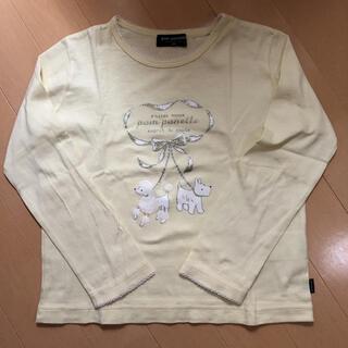 ポンポネット(pom ponette)のポンポネット 120 長袖ロンT  黄色 Pom ponette(Tシャツ/カットソー)