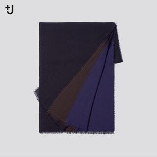 UNIQLO - 新品 ユニクロ +J ウールストール ネイビー 紺 UNIQLO ジルサンダー